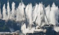 Podul Morandi a fost demolat în opt secunde (Video) Cele doua segmente ramase ale podului au