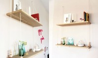 """""""Leagănul"""" de pe perete un raft decorativ cu lemn și sfoară! Iti propunem un design deosebit"""