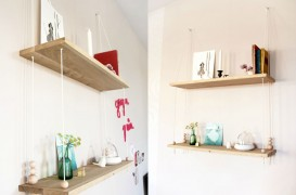 """""""Leagănul"""" de pe perete: un raft decorativ cu lemn și sfoară!"""
