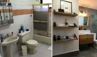 Înainte și după - o baie din anii '90 primește o reamenajare modernă Designerul de interior