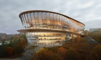 Clădirea noului teatru de operă și balet din Rusia imită mișcările dansatorilor Randarile infatiseaza o cladire