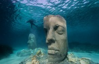 Un muzeu subacvatic în Cannes, cu sculpturi create după chipurile localnicilor (Foto)