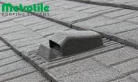 Acoperișul cu tiglă metalică cu piatră naturală METROTILE se montează în sistem ventilat Pentru asigurarea confortului