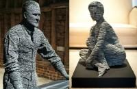 Arta ardeziei, sculpturi bucatica cu bucatica
