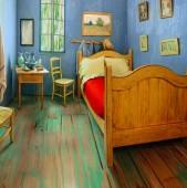"""Priviti imaginea alaturata o opera de arta usor de recunoscut - """"Camera din Arles"""" a lui"""