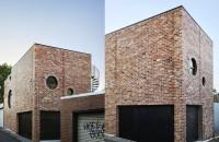 Casa a cărei fațadă a fost realizată din caramidă refolosită