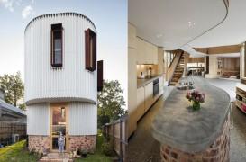 Un vechi grajd transformat într-o casă cu forme unduitoare