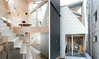Locuinta minimala dar cu o spatialitate deosebita Casa Tsubomi din Japonia este micuta avand o amprenta