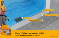 Piscină finisată cu membrană PVC – soluţie tehnică