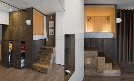 Apartament de 35mp optimizat pentru un trai confortabil