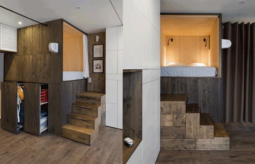 Apartament de 35 de metri pătraţi optimizat pentru un trai confortabil