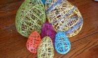 Decoraţiuni de Paşte - ouă din fire de mohair Proiectul de astazi va propune sa creati
