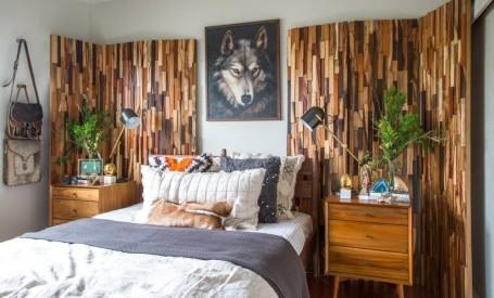 Materialele naturale si vegetatia, elemente definitorii pentru apartamentul lui Erick