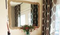 Oglinda cu rama invelita in sfoara Infasurati rama unei oglinzi in sfoara pentru o amenajare in