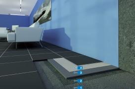 Sistem de montaj al pardoselilor realizate din dale din PVC pe suport denivelat cu umiditate reziduală