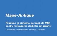 Solutii de consolidare si dezumidificare a cladirilor vechi, istorice, in noua brosura Mape-Antique