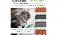 Novatik NATURA - o nouă generație de țigle metalice cu acoperire de rocă vulcanică Scopul principal