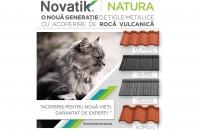 Novatik NATURA - o nouă generație de țigle metalice cu acoperire de rocă vulcanică