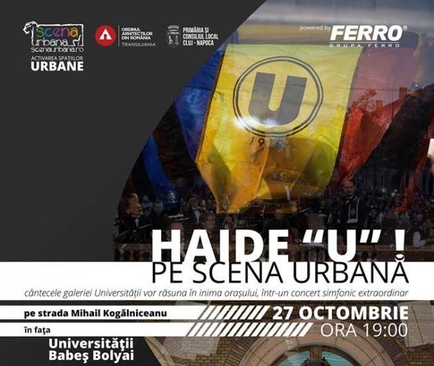 """Cluj: """"U"""" revine pe Scena Urbană. Galeria Universității, în concert alături de o orchestră simfonică"""