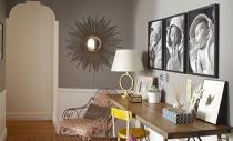 Apartament in Brooklyn decorat cu multe tablouri si fotografii