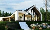 O casă în pădure beneficiază de grădini verticale Daca vegetatia este esentiala pentru realizarea unui mediu
