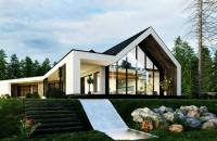 O casă în pădure beneficiază de grădini verticale