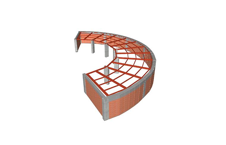 Solutie de consolidare a planseului peste parter cu grinzi metalice