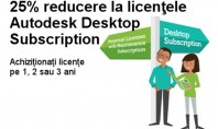 25% reducere la licentele Autodesk Desktop Subscription In perioada 07 11 2015 - 22 01 2016