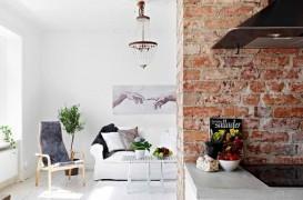 Caramida aparenta in amenajarile interioare - cu ce culori ale peretilor o potrivim?