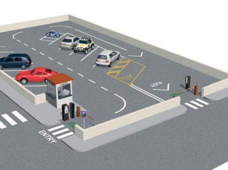 a - Sistemul automat de parcare cu cod de bare Came România