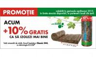 Promotie Knauf Insulation 10% GRATIS Cumpara vata minerala de sticla Classic 044 - 18 m2 cu