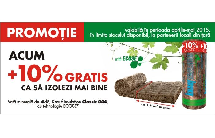 Promotie Knauf Insulation 10% GRATIS