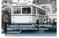 """Muzeul National Tehnic """"Dimitrie Leonida"""" si Siemens au inaugurat expozitia """"Contributia Siemens in dezvoltarea tehnicii romanesti"""""""