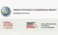 """Solutii inteligente pentru energia sustenabila si mediile urbane, in cadrul evenimentelor EE & RE si Smart Cities 2016 Expoconferintele """"Smart Cities, Energy Efficiency & Renewables"""" organizate pentru Europa de Sud-Est, vor avea ca participanti producatori si importatori de top, din peste 12 tari."""