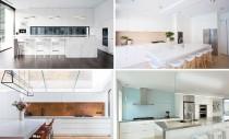 Idei si materiale pentru panourile de perete dintr-o bucatarie alba