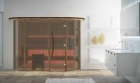 Noua gama de saune Vision - design 100% Scandinav Exterior elegant - aproape integral din sticla