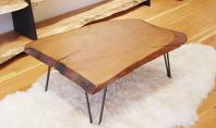 Cinci mese rustice realizate din lemn masiv Mesele joase pentru cafea realizate din placi de lemn
