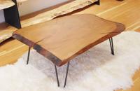 Cinci mese rustice realizate din lemn masiv
