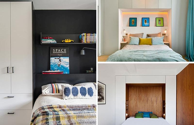 Soluţii eficiente de depozitare în jurul patului