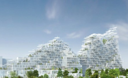 """Acest """"sat vertical"""" din lemn va fi construit în Paris"""
