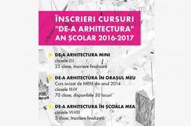 Cursurile optionale De-a Arhitectura vor putea numara peste 10.000 de copii in scoli