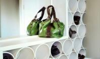 Pantofarul din tevi PVC Numai bun de pozitionat in holul de intrare sau in dressing acest