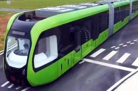Un tren fără șine va circula de anul viitor pe străzi