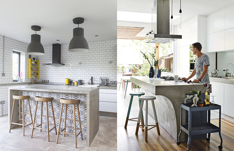 Ipostaze ale betonului aparent în spaţiul bucătăriei