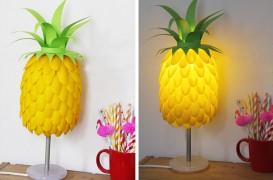 Cum să faci o lampă în formă de ananas