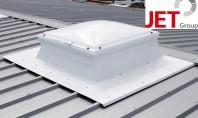 Socluri JET pentru monatrea cupolelor luminatoare in acoperisuri profilate Montajul cupolelor lumiantoare cu rol de ventilatie