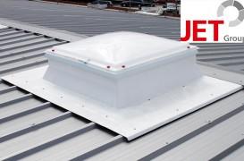 Socluri JET pentru monatrea cupolelor luminatoare in acoperisuri profilate