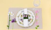 Ca pentru primavara: individuale de masa cu flori