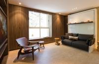 Mobilierul ergonomic eficientizeaza la maxim cei 27 mp ai apartamentului