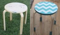 Decoratiune cu material pentru un scaunel din lemn Cei mai multi dintre noi au acasa un